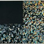 Around The Black Space. 130x195 cm. 1987. Kunstmuseet Trapholt Kolding