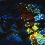 Data Landscape. Scanningfield. 3x2 meter. 1984
