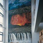 De fire elementer i nordisk lys. 920x450 cm. 2003. Gave fra Statens Kunstfond