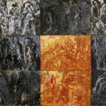 De iscenesatte borgere. Left part. 210x350 cm. 1996. Kunstmuseet i Tønder